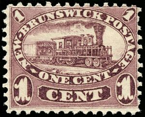 European and North American Railway - Image: NB One Cent Train 1860 Scott No 6