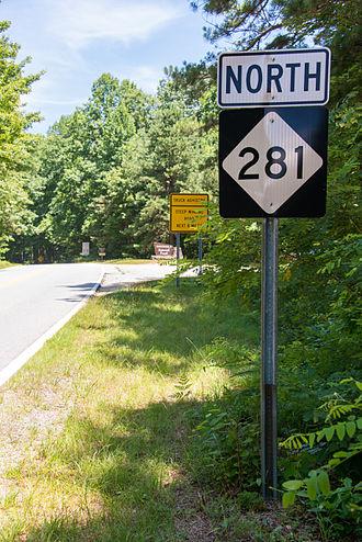 North Carolina Highway 281 - NC 281, near the state line