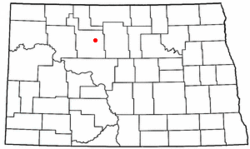 Location in North Dakota