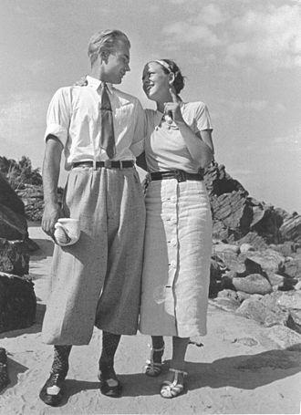 Plus fours - Man in plus fours, Sweden, July 1936