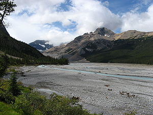North Saskatchewan River - Headwaters of the North Saskatchewan in Banff National Park