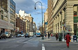 NYC 14th Street looking west 12 2005.jpg