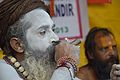 Naga Sadhu Smoking Ganja - Gangasagar Fair Transit Camp - Kolkata 2013-01-12 2572.JPG