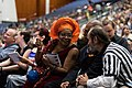Nalo Hopkinson, her husband and Walter Day at the Hugo Award Ceremony at Worldcon 75 in Helsinki.jpg