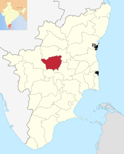 Location in Tamil Nadu, India