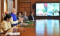 Narendra Modi addressing at the launch of connectivity projects between India and Bangladesh, via video conferencing with the Prime Minister of Bangladesh, Ms. Sheikh Hasina and the Chief Minister of West Bengal.jpg