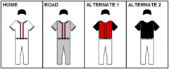 An illustration showing baseball uniforms