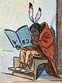 Native American art detail, School Begins (Puck Magazine 1-25-1899) (cropped).jpg