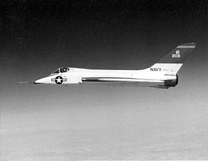 Navy Douglas F5D-1 in flight.jpg