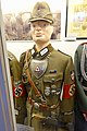 Nazi Germany uniforms etc. RAD (helped org.Todt in Norway) Unterfeldmeister der Reichsarbeitsdienst Tuchmutze Gorget, NSDAP Gautag 1939 Gausiger 1938 Luftrennen 1940 pins, swastika armband Emsland cufftitle dagger Lofoten krigsminnemus.jpg