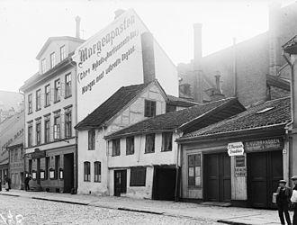 Morgenposten - The Morgenposten headquarters in Nedre Vollgate, Christiania, around 1900.