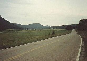 Nemo, South Dakota - Road near Nemo