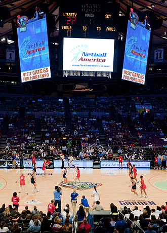 Geography of netball - Netball being played in front of 14,000 at Madison Square Garden