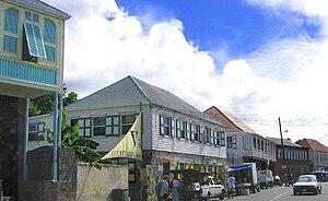 Nevis - Main Street, Charlestown, Nevis.