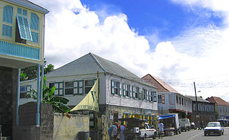 Charlestown, Nevis - The main street of Charlestown