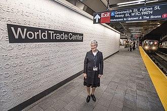 Ann Hamilton (artist) - Image: New WTC Cortlandt 1 Station (30685500988)