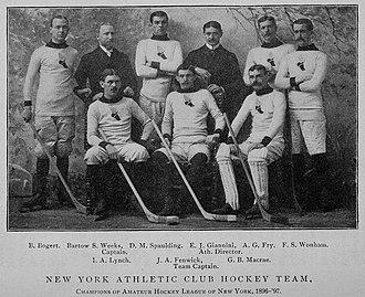 American Amateur Hockey League - New York Athletic Club in the inaugural 1896–97 season.