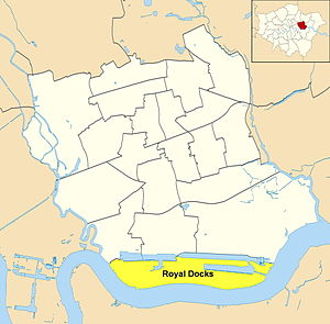 Royal Docks - Ward map of Royal Docks within the London Borough of Newham