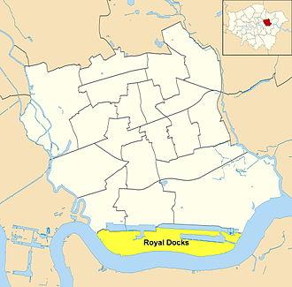 Royal Docks - Ward map of Royal Docks within the London Borough of Newham