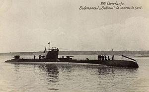 Black Sea campaigns (1941–44) - Romanian submarine Delfinul