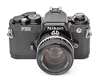 Nikon FE2 - Nikon FE2 (black) with Nikkor AI-S 50 mm f/1.4 lens