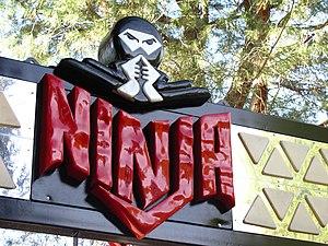 Ninja (Six Flags Magic Mountain) - Image: Ninja entrance sign