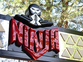 Ninja (Six Flags Magic Mountain) - Image: Ninja entrance sign