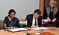 Nirmala Sitharaman and the Minister of Industry and Trade, Czech Republic, Mr. Jan Mladek signing the Protocol on the 10th Session of the Joint Commission on Economic Cooperation between India and the Czech Republic.jpg