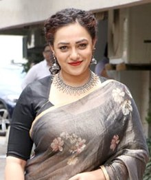Nithya Menen at the trailer launch of her film 'Mission Mangal'.jpg