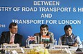 Nitin Gadkari addressing at the signing ceremony of an MoU between Ministry of Road Transport & Highways and Transport for London, in New Delhi.jpg