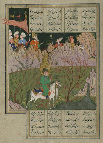 Миниатюра «Искандар-наме» Низами Гянджеви, XVI век. Художественный музей Уолтерса