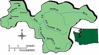Nooksack River - Image: Nooksack Basin