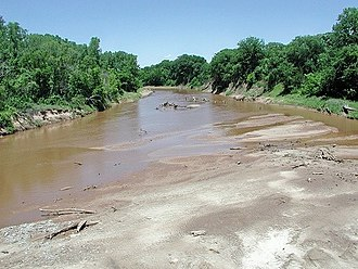 North Canadian River - The North Canadian River near Shawnee, Oklahoma