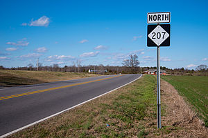 North Carolina Highway 207 - First sign for NC 207 after state line