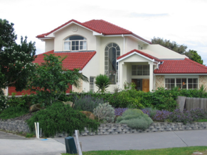 English: New house at Marsden Cove, Northland, NZ