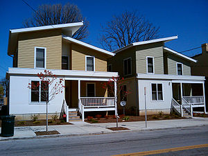"Northside, Cincinnati - Two LEED-certified ""Green"" homes at the corner of Chase and Fergus"