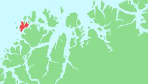Rebbenesøya - Map of Rebbenesøya