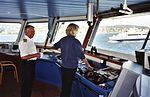 Norwegian master mariner and AB on Norwegian coastal ferry.jpg