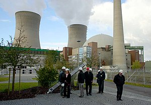 Nuclear power plant at Grafenrheinfeld in Germany.