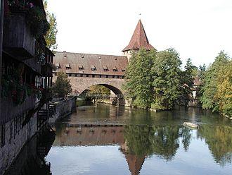 Pegnitz (river) - The Pegnitz in Nuremberg.