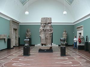 Ptah -  Colossal statue of the god Ptah-Tatenen holding hands with Ramses II found at Memphis - Ny Carlsberg Glyptotek, Copenhagen
