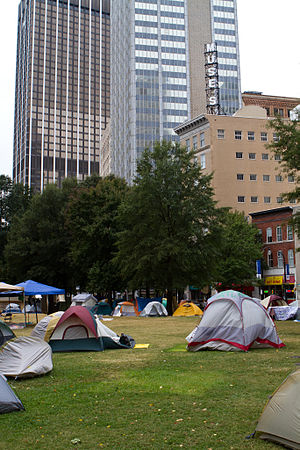 """Occupy Atlanta - Tents used in the """"occupy"""" protest"""