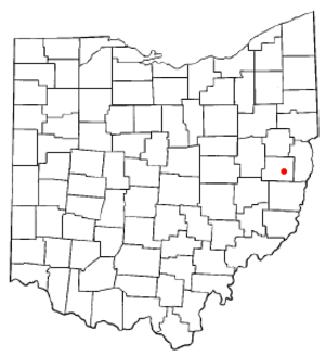 Cadiz, Ohio - Image: OH Map doton Cadiz