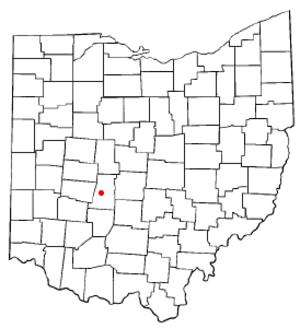 London, Ohio - Image: OH Map doton London