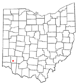 Location of South Lebanon, Ohio