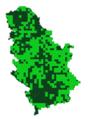 Ochlodes silvanus mapa rasprostranjenja Srbija.png