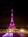 Octobre rose pour le cancer du sein - Pink Eiffel tower, Tour Eiffel en rose - National Breast Cancer Awareness Month (21795862845).jpg