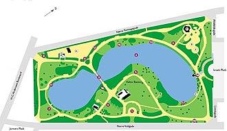Ørstedsparken - A map of Ørstedsparken