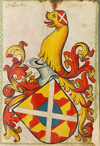 Irmengard of Oettingen - Family coat of arms of the Counts of Oettingen
