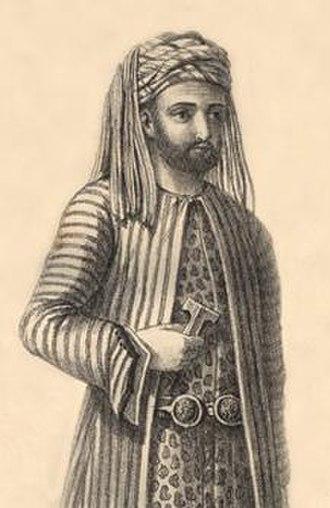 Agha (title) - Omar Agha, officer for the Kurdish Pasha, Sheikh Mahmoud of Sulaymaniyah of Baban principality, Kurdistan, 1820